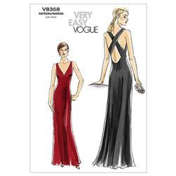 Vogue Misses' Dress Pattern V8358 Size AAX
