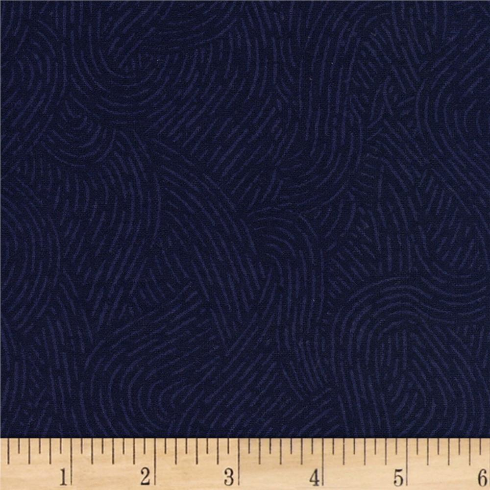 Westrade 110 wide flannel quilt backing seacoast navy for Flannel fabric