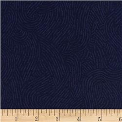 "110"" Wide Flannel Quilt Backing Seacoast Navy"