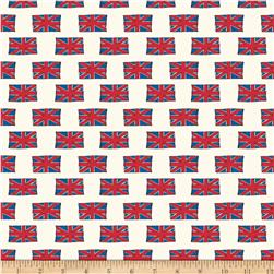 Riley Blake British Invasion British Flag Cream