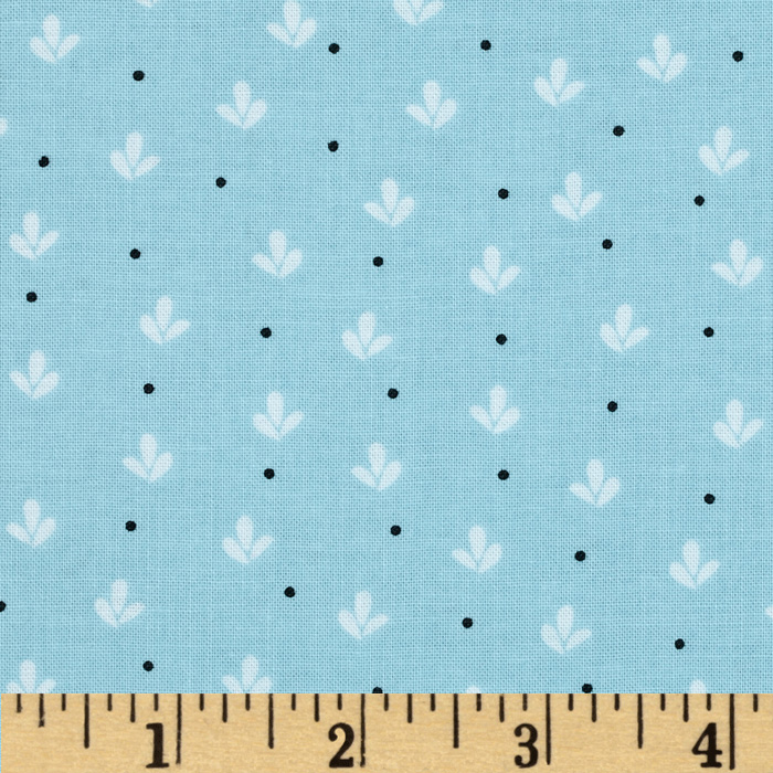 Girly Girl Fleur De Lys Blue Fabric