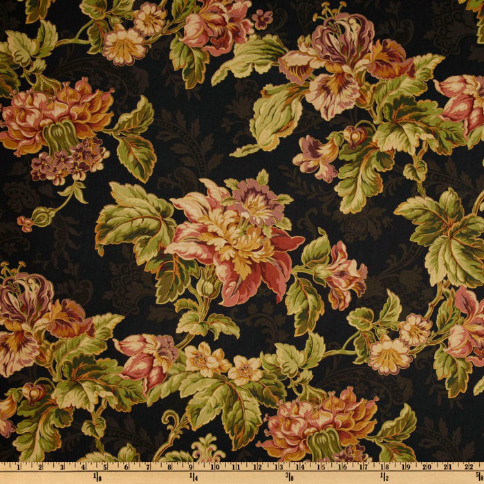 Swavelle/Mill Creek Teresa Floral Noir Fabric