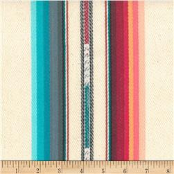 Laura & Kiran Southwest Stripes Silver City Cream Multi