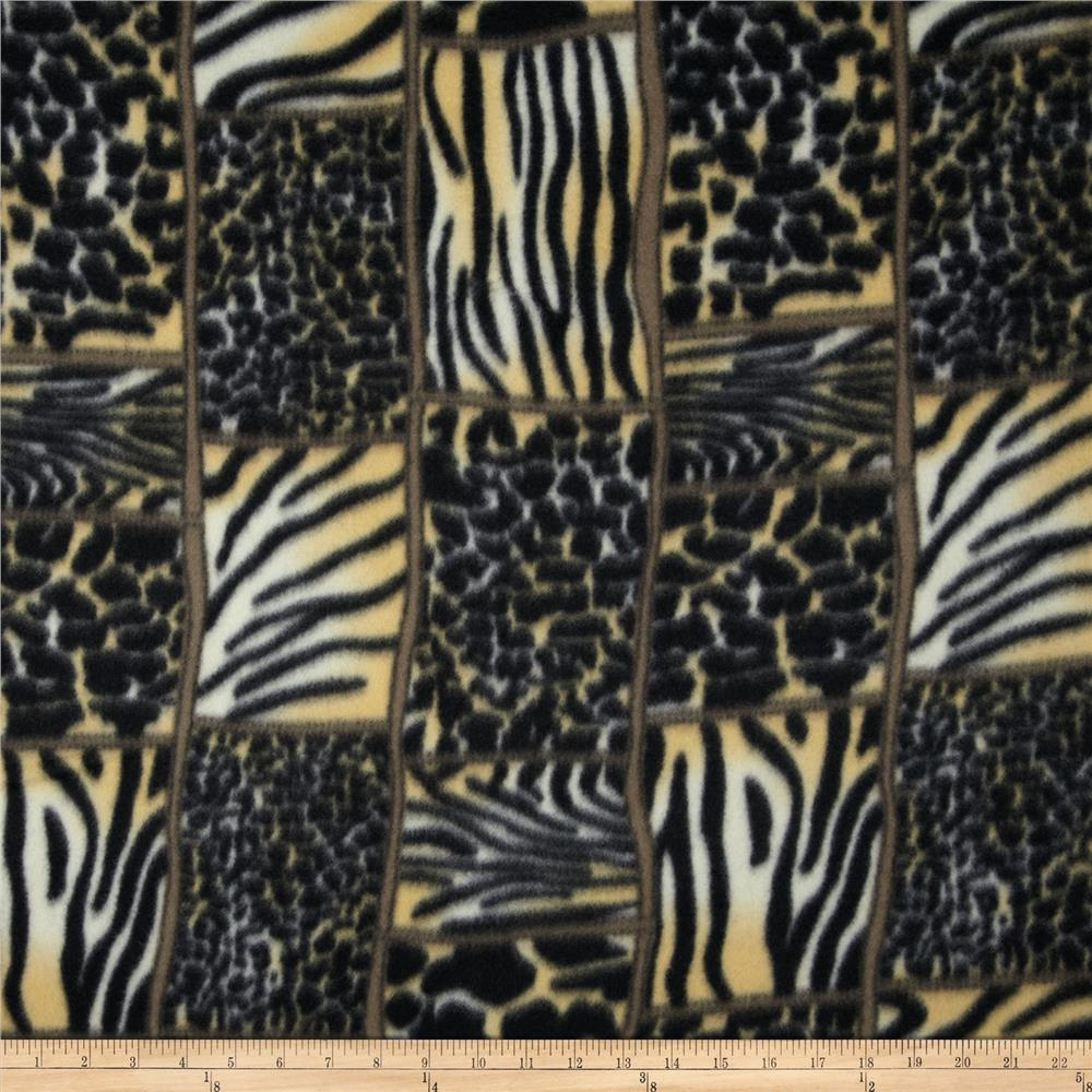 Fleece Animal Print Black/Gold