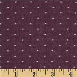 Kaufman Cotton Chambray Dots Burgundy