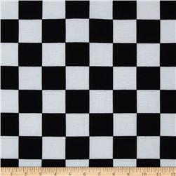 Soft Jersey Knit Checkers Black/White