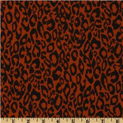 Venice Stretch ITY Jersey Knit Leopard Orange/Black