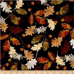 Leaf Into Autumn Falling Leaves Black
