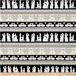 I Do Wedding Decorative Stripe Black