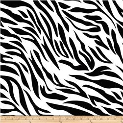 Cotton Lycra Jersey Knit Zebra White/Black