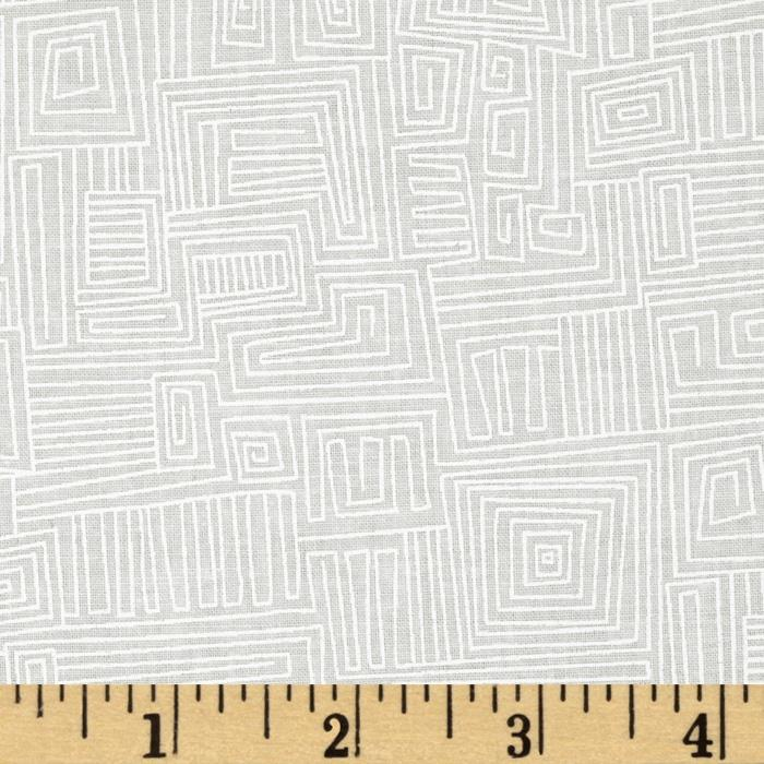 Ramblings 7 Tonal Geometric White