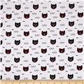 Michael Miller Cool Cats Dapper Cat White