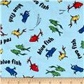Dr. Seuss One Fish Two Fish Collage Blue