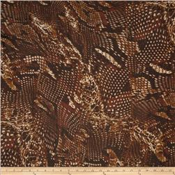 Blossom Chiffon Abstract Gold/Brown