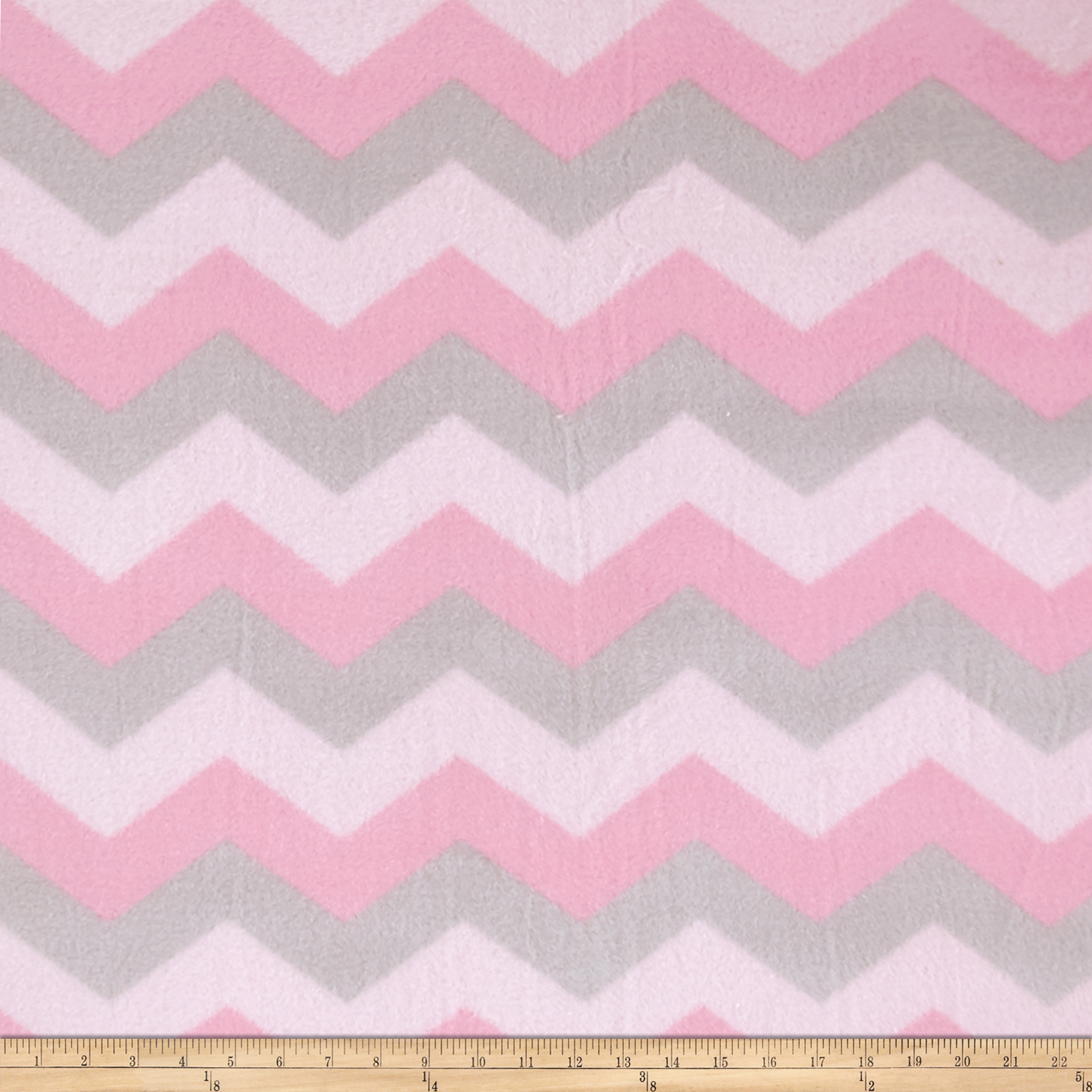 Baum Winterfleece Chevron Pink Fabric
