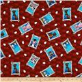 The Farm at Whistle Pig Creek Flannel Animal Faces Red