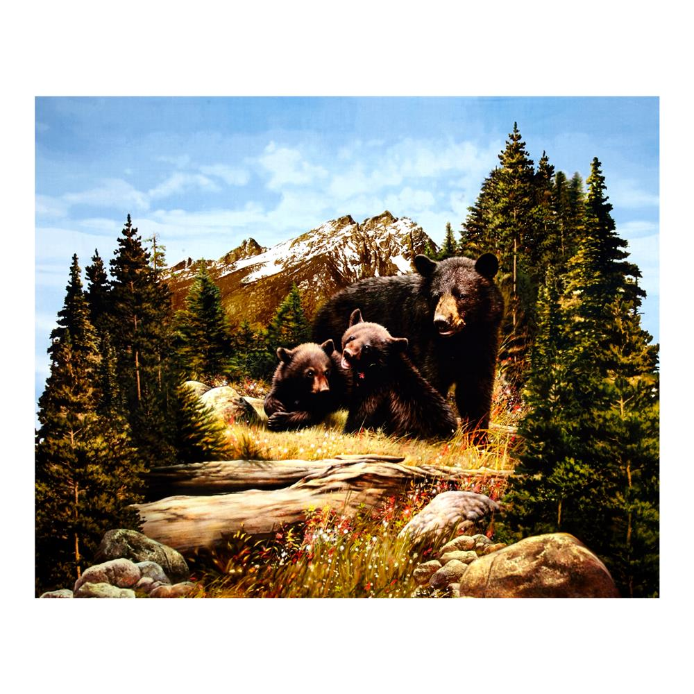 "Penny Rose Majestic Outdoors Digital Bear 38"" Panel Multi"