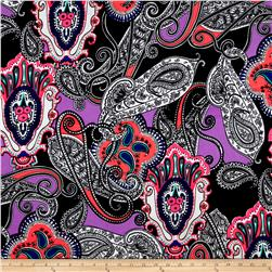 Liverpool Double Knit Paisley Lace Coral