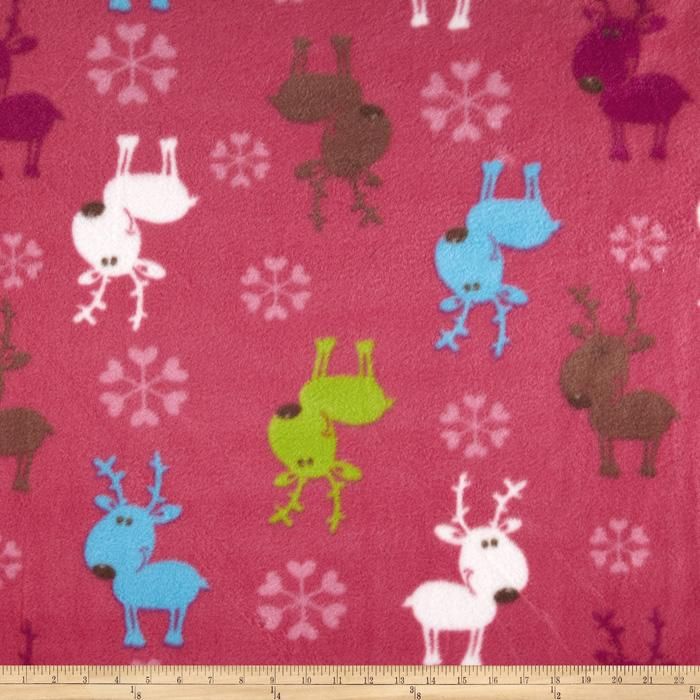 Fleece Reindeer Pink