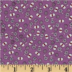 Aunt Grace Miniatures Small Floral Purple