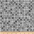 Kaufman Winter's Grandeur 4 Metallics Diamond Grid Silver