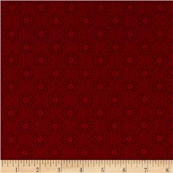 Always the Season Medallion Dark Red Fabric