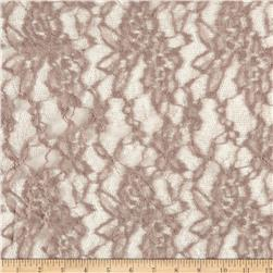 Stretch Floral Lace Rose Tan