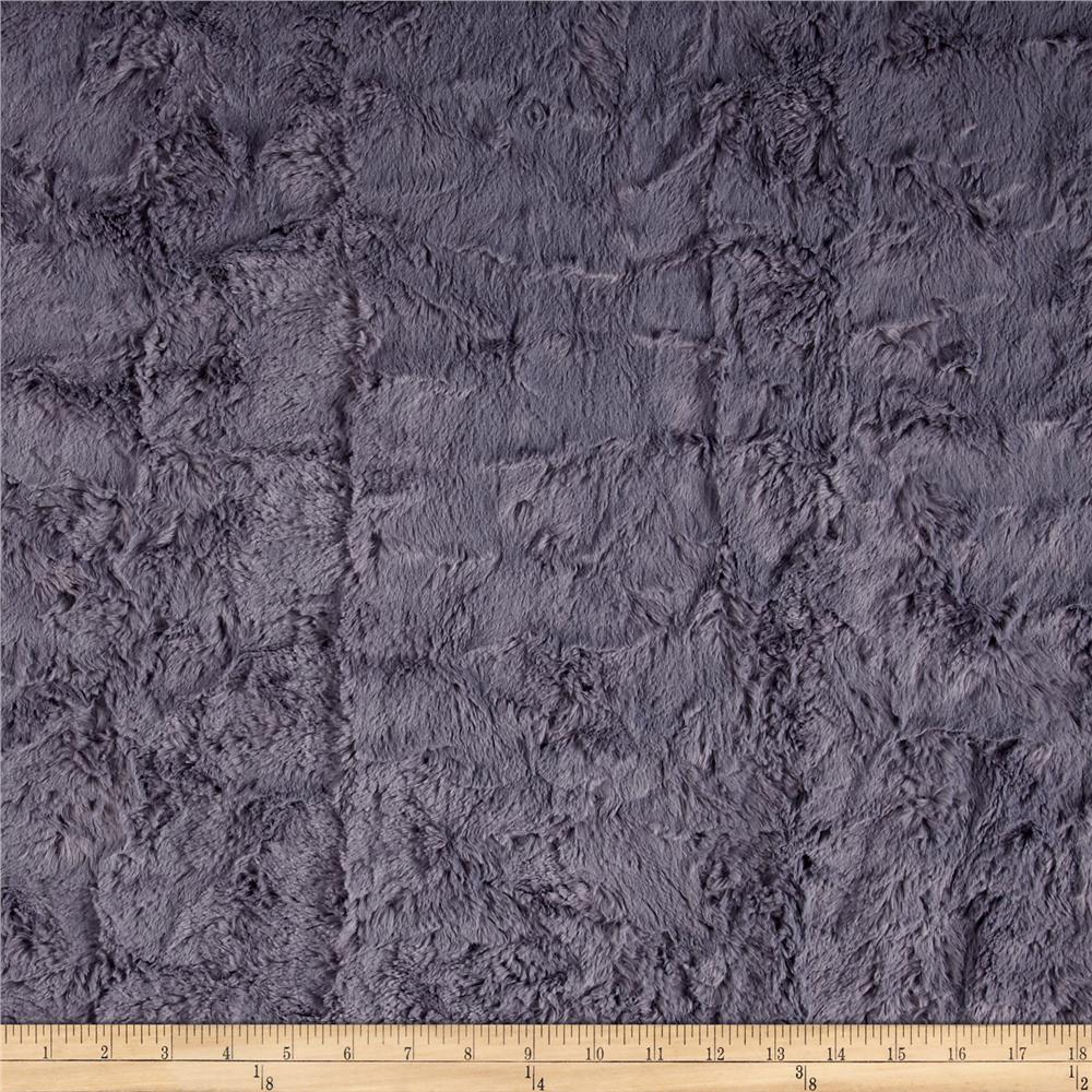 Shannon Minky Luxe Cuddle Marble Graphite