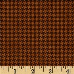Build Each Other Up Houndstooth Brown
