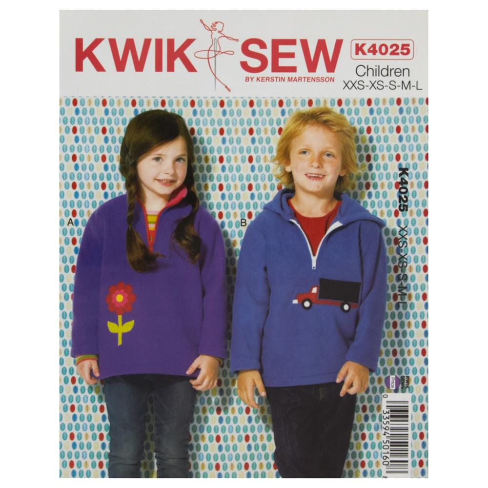 Kwik Sew Children Girl's/Boy's Pullover Pattern