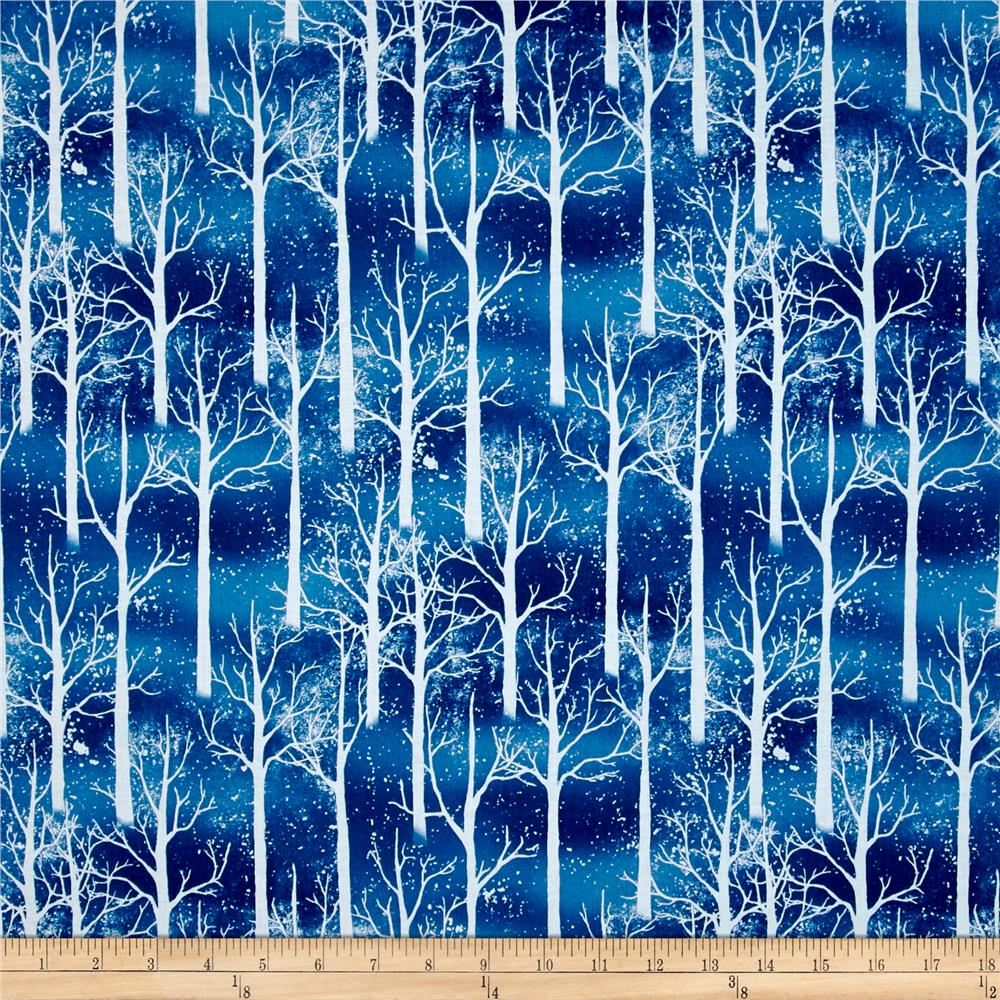 Snowy Friends Snowy Trees Blue