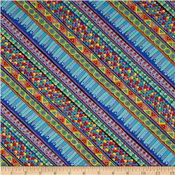Night Bright Diagonal Stripe Multi