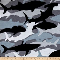 Fleece Prints Boys Take Over Shark Camo Black