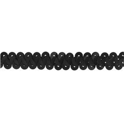 3/8'' Stretch Metallic Sequin Trim Black