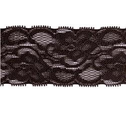 Riley Blake 2'' Elastic Lace Black