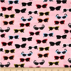 Riley Blake Novelty Glasses Pink