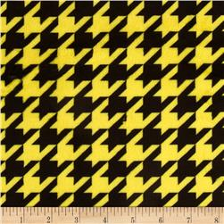 Minky Houndstooth Bright Yellow/Black