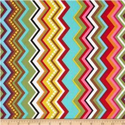 Mosaica Chevrons Irregular Multi Fabric