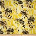 Jungle Safari Broadcloth Tiger Lemon/Black
