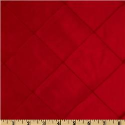 6'' Diamond Pintuck Taffeta Red