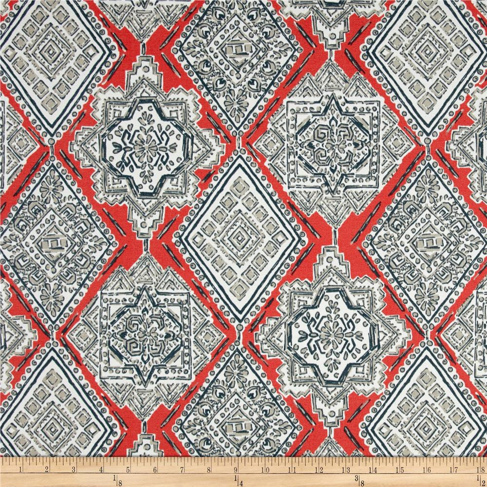 Premier Prints  Milan Indoor/Outdoor Indian Coral
