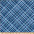 "Riley Blake Bee Backings and Borders 108"" Quilt Back Plaid Blue"