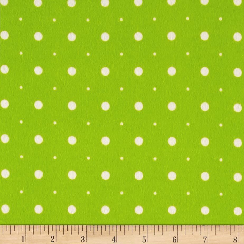 Ric Rac Paddywack Flannel Lime Dot