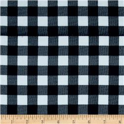 Gingham Rayon Challis Denim/White