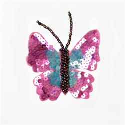 Flutter-Bye Sequin Applique Purple