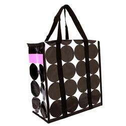 Insta-Tote Reusable Insulated Grocery Tote Stripes & Dots Pink