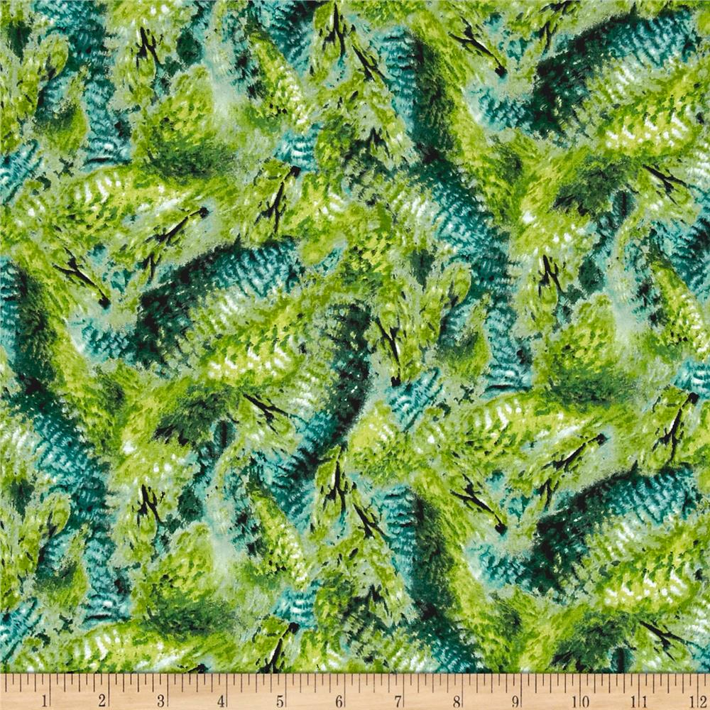 Hummingbirds Feathers Dark Green