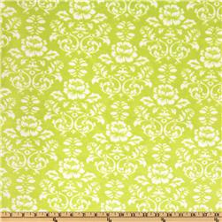 Kaufman Minky Cuddle Victorian Damask Apple Green