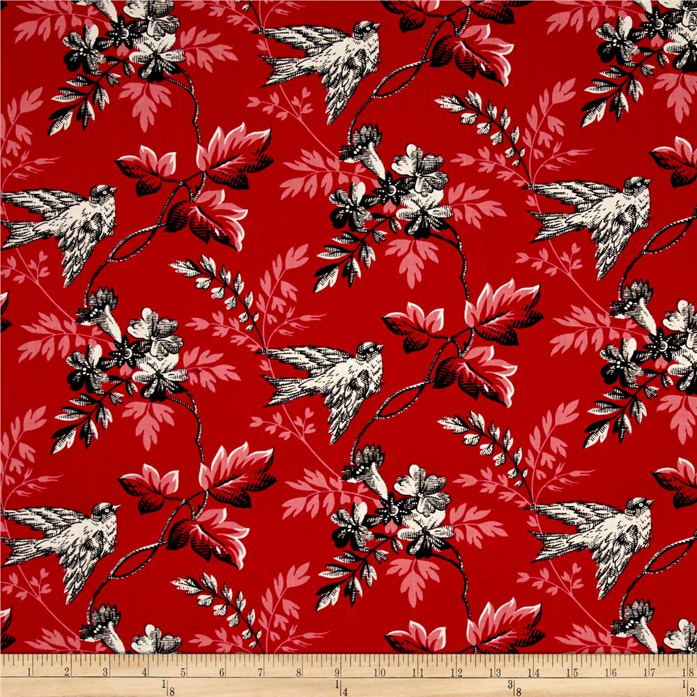 Windsong Birds Red