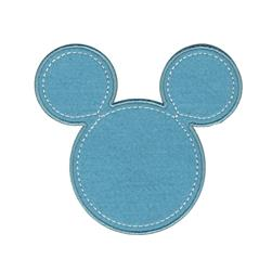 Disney Mickey Mouse Iron On Applique Mickey Blue